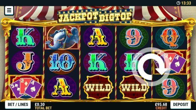 Big top casino login